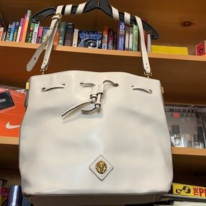 ANNE KLEIN-woman's cream strap tote purse bag